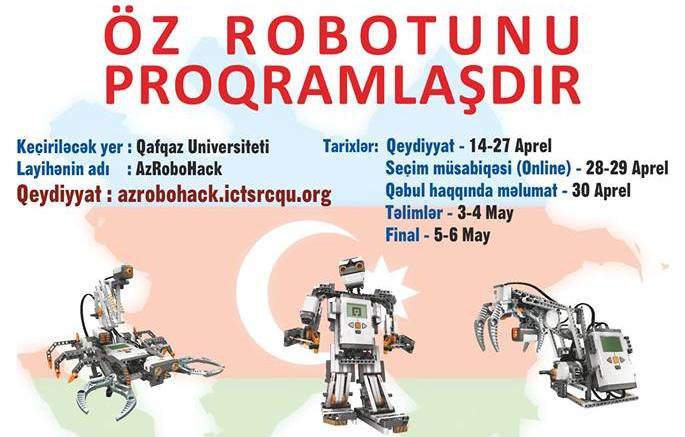 1-ci Respublika robot proqramlaşdırma müsabiqəsinə start verildi