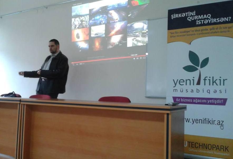 """QUTechnopark """"İdeya-startup-layihə-biznes"""" seminarını keçirdi"""
