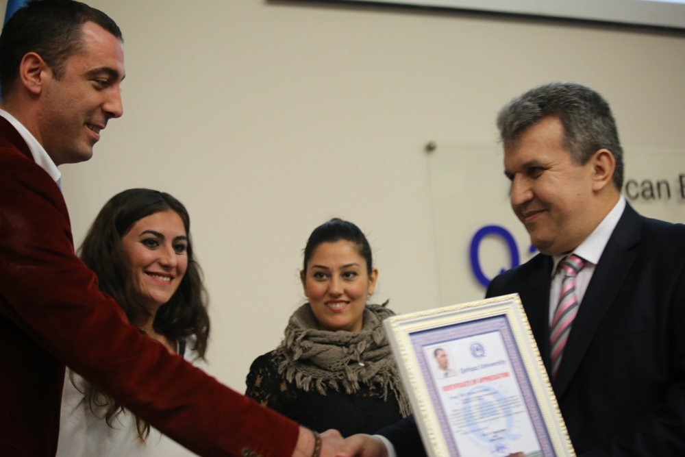 Qafqaz Universitetində Türkiyənin ən yaxşı gənc girişimcisi seçilmiş Berke Sarpaş seminar verdi