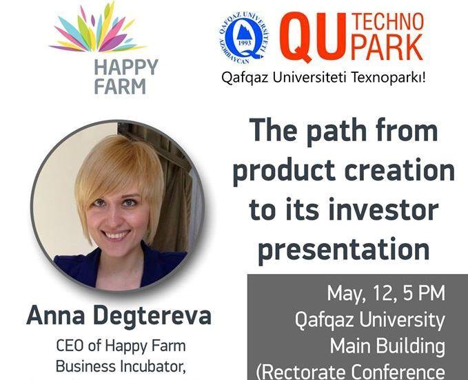 Anna Degterevanın təqdimatında seminar
