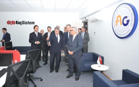 Koç Sistem Azərbaycan Şirkətinin Qafqaz Universiteti Texnoparkında qurduğu Tədqiqat Mərkəzinin açılışı olub
