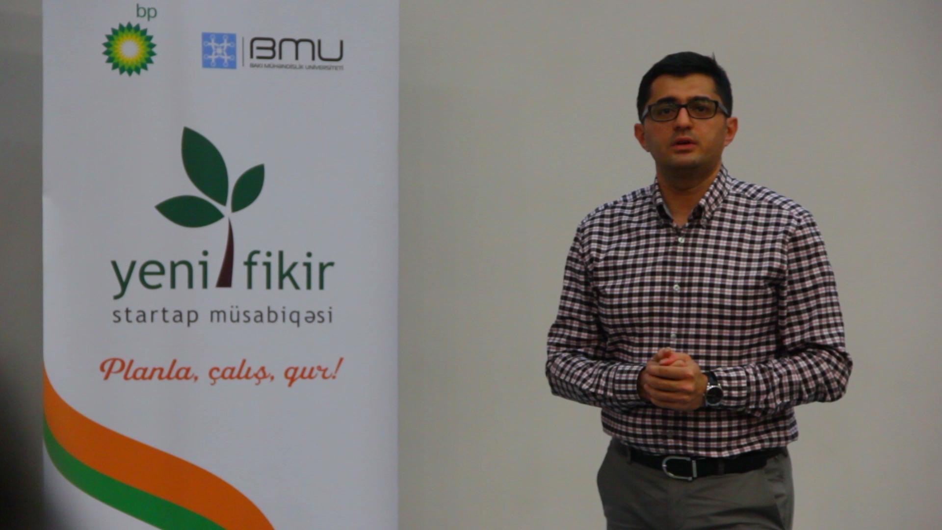 """""""YeniFikir VI"""" startap müsabiqəsinin yarımfinalçılarına təlimlər keçirilib"""